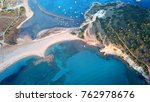 aerial drone bird's eye view of ... | Shutterstock . vector #762978676