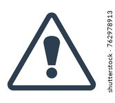 attention icon on white... | Shutterstock .eps vector #762978913