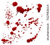 set of realistic bloody... | Shutterstock .eps vector #762983614