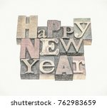 happy new year greeting card  ... | Shutterstock . vector #762983659