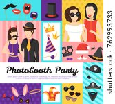 photo booth party design...   Shutterstock . vector #762993733