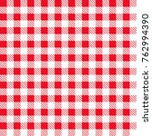 red and white tablecloth...   Shutterstock .eps vector #762994390