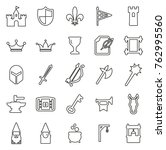 medieval castle icons thin line ... | Shutterstock .eps vector #762995560