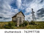 old weather beaten shack and...   Shutterstock . vector #762997738