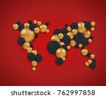 modern christmas or 2018 happy... | Shutterstock . vector #762997858