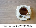 a cup of tea on the table. ... | Shutterstock . vector #762998014
