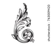 classical baroque vector of... | Shutterstock .eps vector #763009420