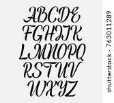 handwritten vector aphabet.... | Shutterstock .eps vector #763011289