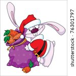 raster illustration of a rabbit ... | Shutterstock . vector #76301797