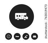 set of 5 editable travel icons. ...
