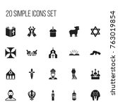 set of 20 editable dyne icons....