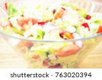 Blurred Greek Salad Background