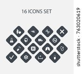 set of 16 editable health icons....