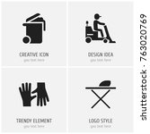 set of 4 editable hygiene icons....