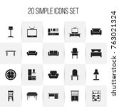 set of 20 editable interior...