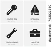 set of 4 editable tool icons....