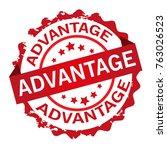 advantage rubber stamp | Shutterstock .eps vector #763026523