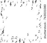 square frame of music notes... | Shutterstock .eps vector #763031080