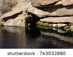 blue hole  new mexico  natural...   Shutterstock . vector #763032880