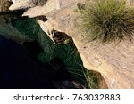 blue hole  new mexico  natural...   Shutterstock . vector #763032883