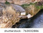 blue hole  new mexico  natural...   Shutterstock . vector #763032886