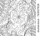 tracery seamless pattern.... | Shutterstock .eps vector #763037818