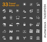 travel vector icons for mobile... | Shutterstock .eps vector #763039354