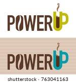 vector illustration of power up ... | Shutterstock .eps vector #763041163