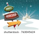 santa's workshop illustration...