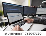 developing programming and... | Shutterstock . vector #763047190