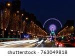 paris  france   november 25 ... | Shutterstock . vector #763049818