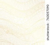 vector golden complex geometric ... | Shutterstock .eps vector #763057090