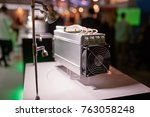 cryptocurrency mining equipment ... | Shutterstock . vector #763058248