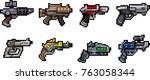 set of weapon icons in perfect... | Shutterstock .eps vector #763058344