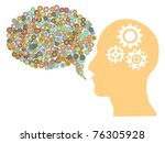 speech bubble created with some ... | Shutterstock .eps vector #76305928