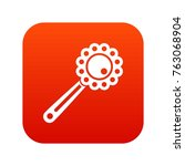 baby rattle icon digital red... | Shutterstock .eps vector #763068904