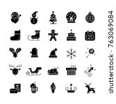 christmas elements icon set.... | Shutterstock .eps vector #763069084