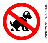 no dog poop vector symbol... | Shutterstock .eps vector #763070188