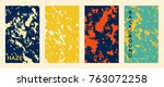 marble color covers set. fluid... | Shutterstock .eps vector #763072258