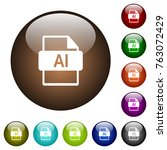 ai file format white icons on... | Shutterstock .eps vector #763072429