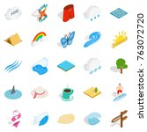 water recreation icons set.... | Shutterstock .eps vector #763072720