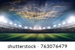 lights at night and stadium 3d... | Shutterstock . vector #763076479