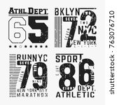 t shirt print design. set of... | Shutterstock .eps vector #763076710