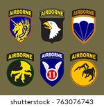 t shirt print design. airborne... | Shutterstock .eps vector #763076743
