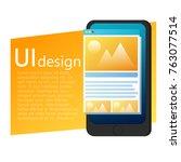 ui design mobile phone banner....