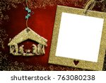 photo frame christmas cards ... | Shutterstock . vector #763080238