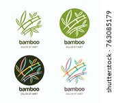 vector set of logo icon or... | Shutterstock .eps vector #763085179