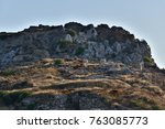 rabbit island in gumusluk  | Shutterstock . vector #763085773