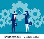business teamwork and hand... | Shutterstock .eps vector #763088368