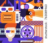 vector cinema or movie festival ... | Shutterstock .eps vector #763089463
